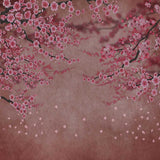 Fox Rolled Pink Flowers Valentine's Day Vinyl Backdrops-Foxbackdrop