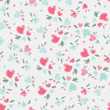 Fox Rolled Flowers Love Vinyl Valentine's Day Backdrop-Foxbackdrop