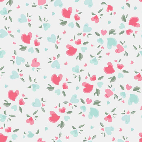 Fox Rolled Flowers Love Vinyl Valentine's Day Backdrop