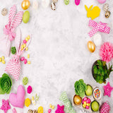 Load image into Gallery viewer, Fox Rolled Flowers Eggs Vinyl Easter Backdrops-Foxbackdrop
