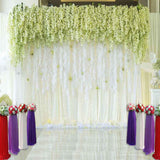 Fox Rolled Vinyl White Curtain Wedding Photography Backdrop-Foxbackdrop