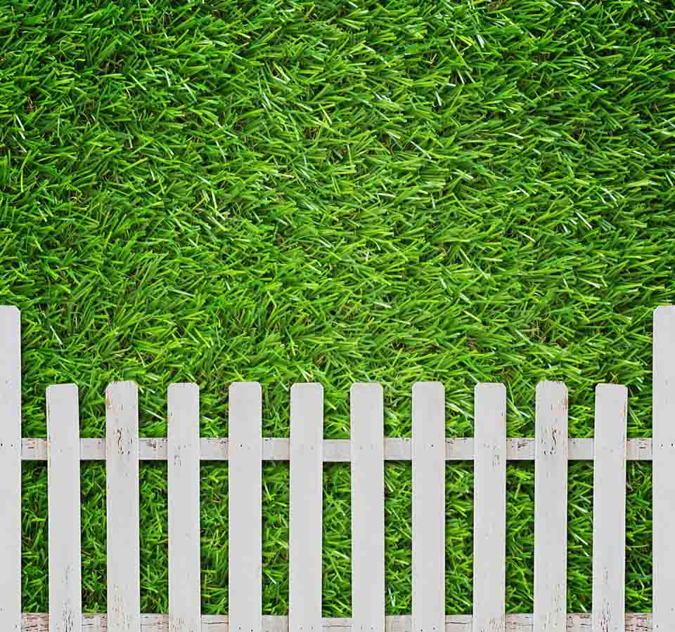 Fox Rolled Green Fence Spring Vinyl Photo Backdrop-Foxbackdrop