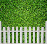 Fox Rolled Green Fence Spring Vinyl Photo Backdrop