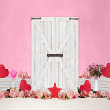 Fox Rolled Vinyl Pink Valentine's Day Vinyl Backdrop-Foxbackdrop