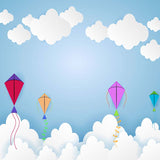 Fox Rolled Sky Kite Vinyl Backdrop for Photography-Foxbackdrop