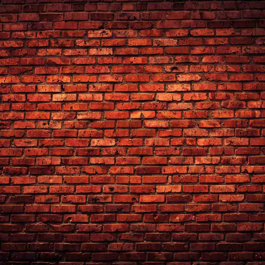 Fox Rolled Vinyl Red Brown Brick Photo Backdrop-Foxbackdrop