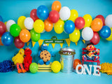 Fox Rolled Cake Smash Children Birthday Vinyl Backdrop Designed By Blanca Perez-Foxbackdrop
