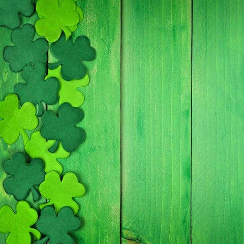 Fox Rolled St. Patrick's Day Green Wood Vinyl Backdrop
