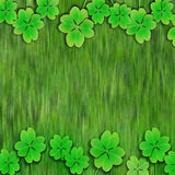 Fox Rolled St. Patrick's Day Green Clover Vinyl Backdrop-Foxbackdrop