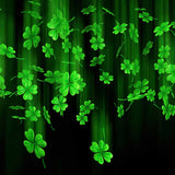 Fox Rolled Vinyl St. Patrick's Day Drop Clover Backdrop-Foxbackdrop