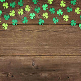 Fox Rolled Vinyl St. Patrick's Day Brown Wood Backdrop-Foxbackdrop
