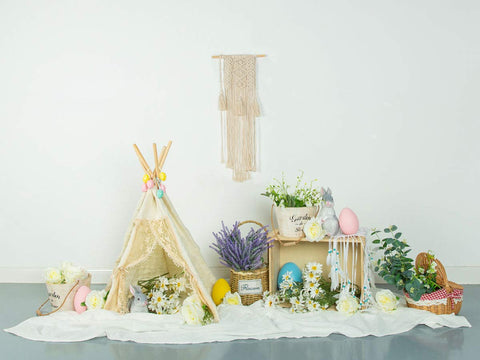 Fox Vinyl Rolled Easter Children Photo Backdrop Designed by Jia Chen