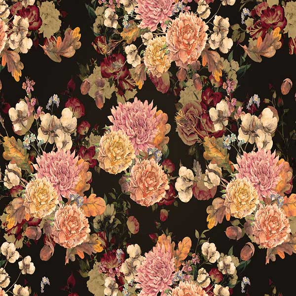 Fox Rolled Vinyl Colorful Flowers Floral Photography Backdrop-Foxbackdrop