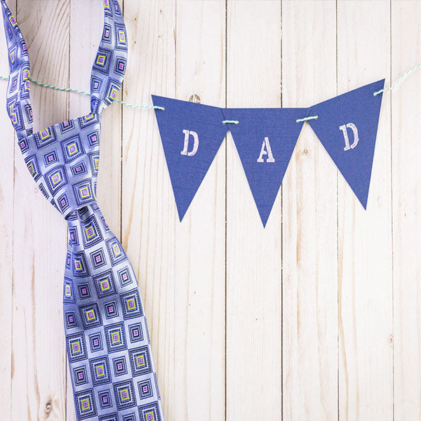 Fox Rolled Vinyl Blue Tie Father