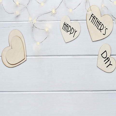 Fox Rolled Vinyl Wood Lights Father's Day Dad Backdrop