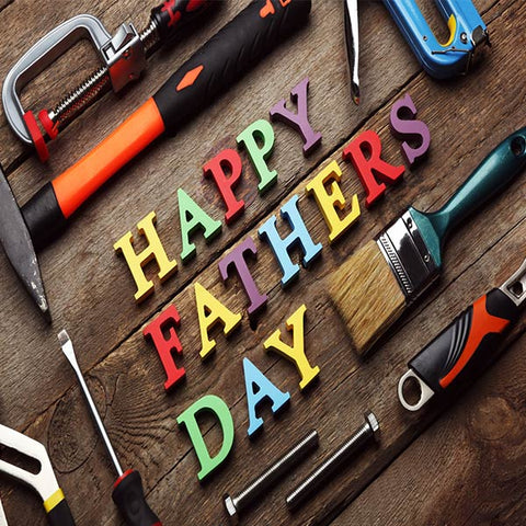 Fox Rolled Vinyl Happy Dad Father's Day Photography Backdrop