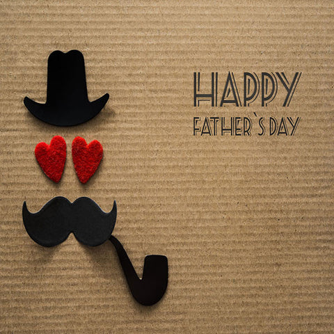 Fox Rolled Vinyl Brown Happy Father's Day Backdrop