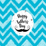 Fox Rolled Vinyl Happy Father's Day Blue Photography Backdrop