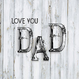 Fox Rolled Vinyl Happy Father's Day White Wood Backdrop-Foxbackdrop