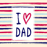 Fox Rolled Vinyl Happy Father's Day Stripe Photo Backdrop-Foxbackdrop