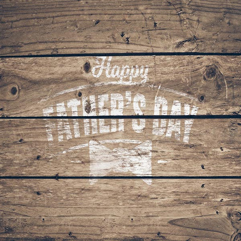 Fox Rolled Vinyl Brown Wood Happy Father's Day Backdrop