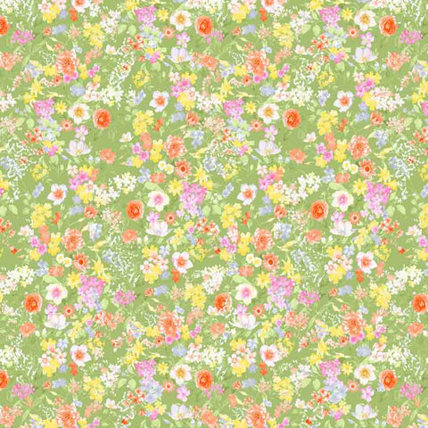 Fox Rolled Little Yellow Pink Flowers Vinyl Floral Backdrop