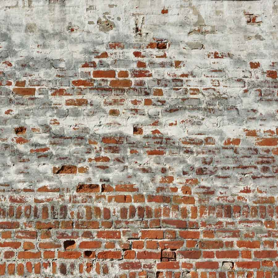 Fox Rolled Red Brick Wall with Cement Vinyl Backdrop-Foxbackdrop
