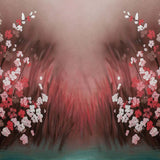 Load image into Gallery viewer, Fox Rolled Red White Flower Dreamy Vinyl Backdrop for Children-Foxbackdrop