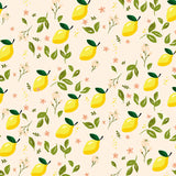Fox Rolled Vinyl Summer Lemon Leaf Children Backdrop-Foxbackdrop