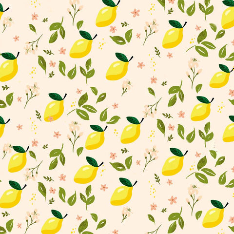Fox Rolled Vinyl Summer Lemon Leaf Children Backdrop