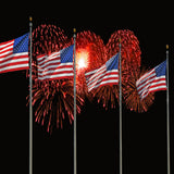 Fox 4th of July American Flags Fireworks Night Vinyl Backdrop-Foxbackdrop