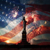 Fox American Flag Liberty 4th of July American Vinyl Backdrop-Foxbackdrop