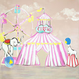 Fox Rolled Carnival Vinyl Children Kids Backdrop