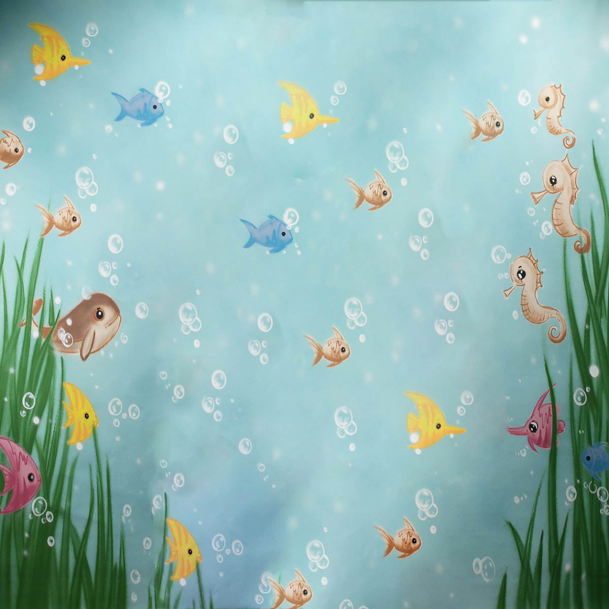 Fox Rolled Under the Sea Vinyl Children Backdrop