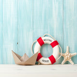 Fox Summer Swimming Ring Boat Vinyl Backdrop for Children