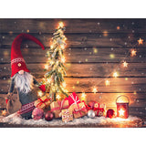Fox Gifts Christmas Trees Children Vinyl Backdrop for Photography