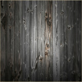 Fox Black Gray Texture Wood Vinyl Backdrop-Foxbackdrop