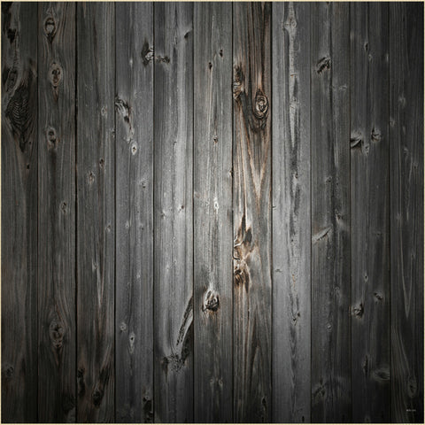 Fox Black Gray Texture Wood Vinyl Photography Backdrop