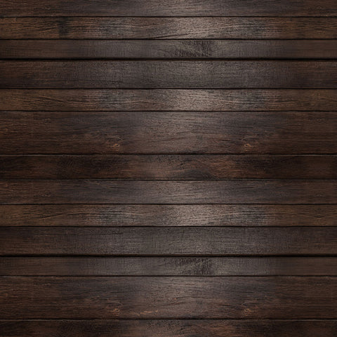 Fox Retro Dark Brown Wood Vinyl Backdrop for Photography