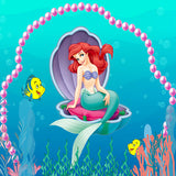 Fox undersea World Mermaid Vinyl Children Backdrop-Foxbackdrop