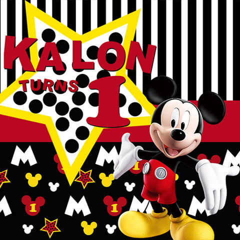 Fox Mickey Mouse Vinyl Children Backdrop