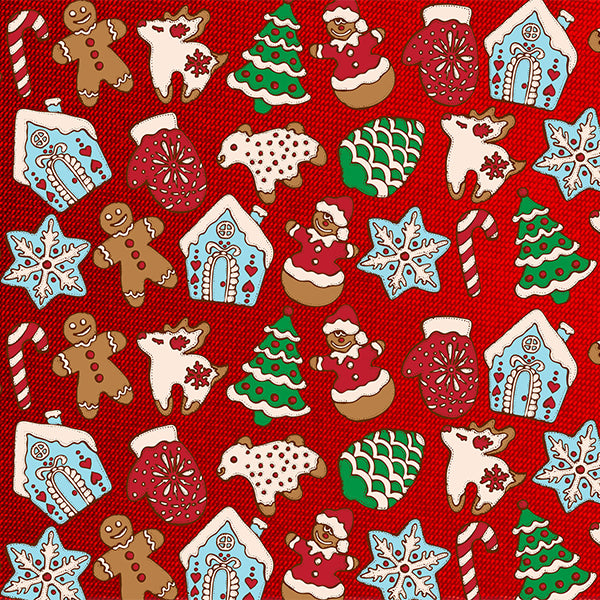 Fox Red Christams Cartoon Vinyl Photos Backdrop