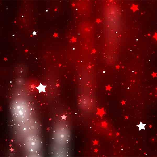 Fox Rolled Red Stars New Year Vinyl Photos Backdrop-Foxbackdrop