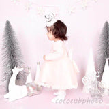 Fox Rolled Pink Abstract Children Vinyl Photos Backdrop-Foxbackdrop