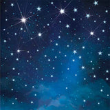 Fox Rolled Sky Night Stars Vinyl Photos Backdrop-Foxbackdrop