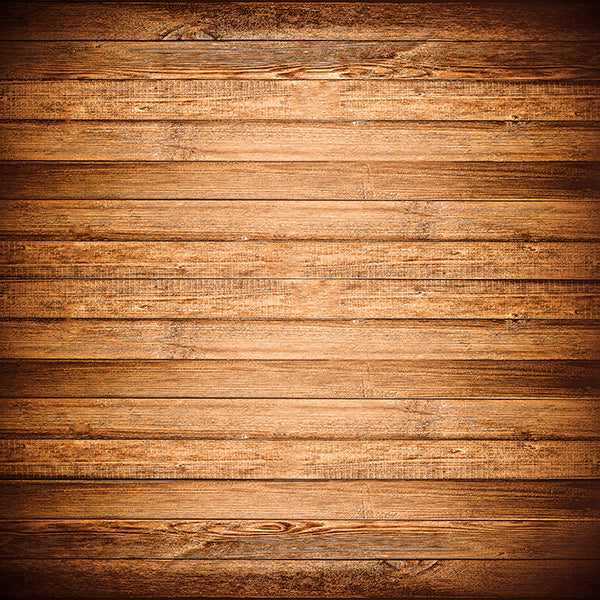 Fox Old Wood Wall Brown Vinyl Photography Backdrop-Foxbackdrop