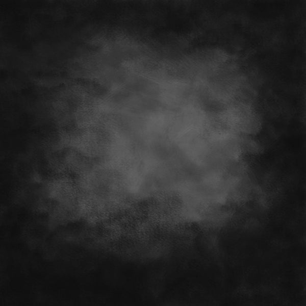 Cold Black Around Dark Gray Texture Abstract Vinyl Printed Backdrop for Photography