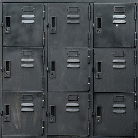 Fox Dark Locker Cabinet Vinyl Photography Backdrop