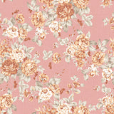 Fox Retro Flowers Salmon Color Vinyl Backdrop for Photography-Foxbackdrop