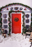 Fox Outdoor Snow Christmas Vinyl Photos Backdrop